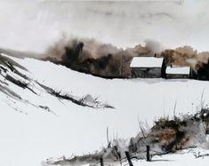 ORIGINAL peinture aquarelle, peinture aquarelle, aquarelle paysage, Pinetreeart, aquarelle, paysage, peinture originale