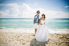 Wedding photo shooting at Dolfin Beach-El Mirador ウエディング フォトセッション ドルフィンビーチ-エル ミラドール AkiDemi Photography www.akidemi.com