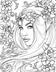 Freckles the Fairy Coloring Page Printable Colouring for image 1 Fairy Coloring Pages, Free Adult Coloring Pages, Disney Coloring Pages, Free Printable Coloring Pages, Coloring Sheets, Coloring Books, Kids Coloring, Images Of Colours, Architecture Tattoo