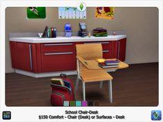 School chair desk at Sims 4 Studio • Sims 4 Updates
