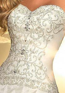 Corset with jewels<3 <3 love it!  #Bride's dresses