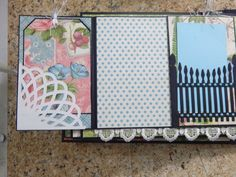 Premade Handmade 7 x 9 Graphic 45 Botanical Tea Mini Album double fold out from center