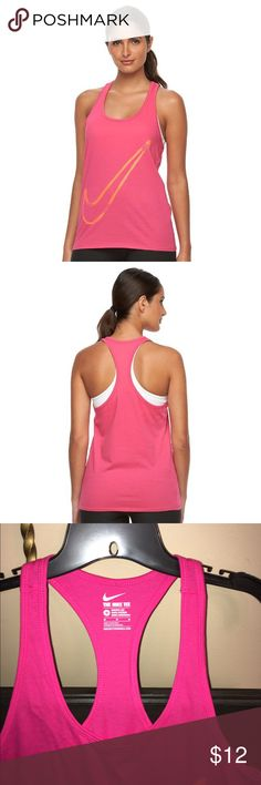 Nike racetrack tank Brand-new with tags's. Bright energizing color to get your work out on! Nike Tops Tank Tops