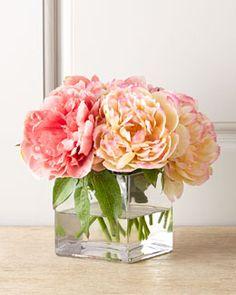 H7CEP John-Richard Collection Petite Peony Faux Floral