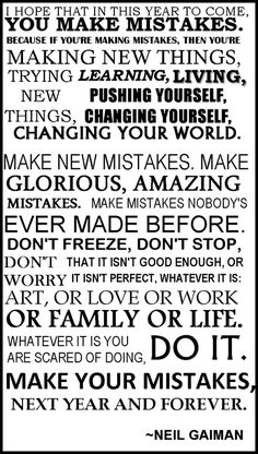 Typography of Neil Gaiman New Year's Wishes (from year 2011)    This was last year's message, written backstage in a Melbourne performance space….