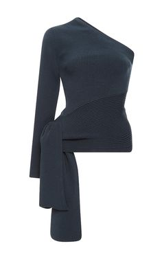 Knit One Shoulder Top by CUSHNIE ET OCHS Now Available on Moda Operandi