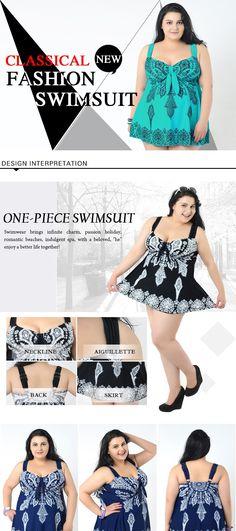 43c125e8b42 Plus Size Swimsuit 2016 hot sale butterfly printed swimwear plus size  swimsuit women summer dress plus