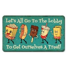 Snacks Go To Lobby Food and Drink Metal Sign - Victory Vintage Signs