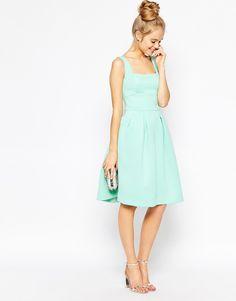 Image 1 ofASOS Sleeveless Debutante Midi Dress