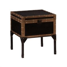 Old-World Trunk End Table