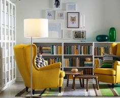 "Yellow, green, white, and brown all vie for the spotlight, and the Stockholm Wool Rug ($349 for 5'7"" x 7'10', ikea.com) comes along and, like decorator crazy glue, weaves all those color elements into a seamless whole. And at $349, it's a steal!"