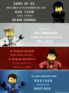 Lego Ninjago The Ninja favourite sayings Ninjago Cole, Ninjago Kai, Ninjago Memes, Lego Ninjago, Lego Memes, Some Things Never Change, Kids Shows, Lego Movie, Romance
