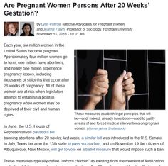 We told you so; how the anti-abortion people have reduced women to State property.