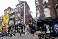 Spuistraat, arte callejero en Ámsterdam