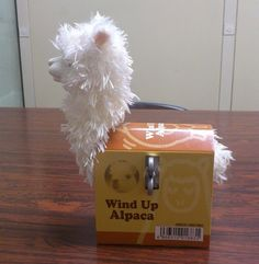 Wind Up Alpaca Toy  Are we PacaCrazy enough to find our loyal customers a WIND UP Alpaca? YouBetCha!   The Wind Up Alpaca has a old school key! We just have too much fun with this stuff!   www.purelyalpaca.com