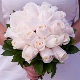 (DUO) Bridal Bouquet Royal Ivory Roses [Include Flower Food]