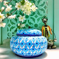 Blue Pottery Colorful D Cor Home D Cor Home D Cor Accessories Home D Coration