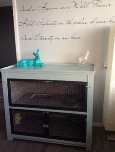 Ikea Hack Bunny Hutch | 9 DIY Rabbit Hutch Ideas Using Upcycled Furniture , see more at: http://diyready.com/diy-rabbit-hutch-ideas/
