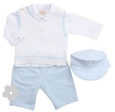 EMILE ET ROSE  PALE BLUE TANK TOP, SHIRT AND TROUSERS BY EMILE ET ROSE