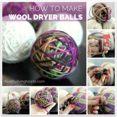 How To Make Wool Dryer Balls | healthylivinghowto.com