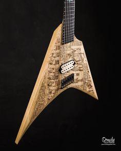 "Ormsby Guitars on Instagram: ""Today we're shredding like we're ancient Egyptians. V -gypt laser etch Metal V!"""