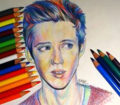 I love the colors used in this drawing of Troye Sivan