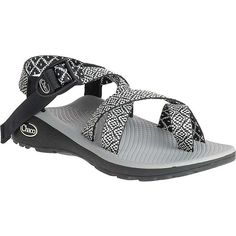 Chaco Women's Z/Cloud 2 Sandal ($110) ❤ liked on Polyvore featuring shoes, sandals, festoon black, toe loop sandals, black sandals, black shoes, kohl shoes and chaco sandals