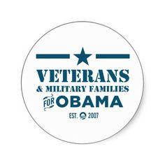 Veterans for Obama Sticker
