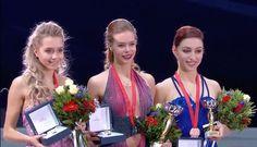 Elena Radionova(Russia), Anna Pogorilaya(Russia) and Courtney Hicks(USA) :Rostelecom Cup 2016