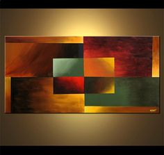 square one geometrical painting