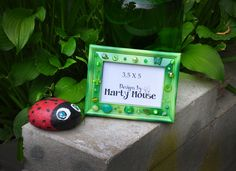 Green Picture Frame/3.5x5/3.5 x Frame/St. Patrick's Day Frame/Fantasy Decor/Green Decor/St. Patrick's Day Decor/Irish Decor/Butterfly Frame by Designsbymartymouse on Etsy