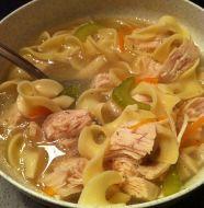 Slow Cooker EASY Leftover Turkey Noodle Soup
