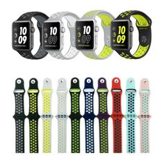 Replacement-Silicone-Sports-Bracelet-Strap-Wrist-Band-For-Apple-Watch-Nike-Band