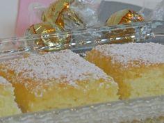 Quick & Easy Lemon Bars (1 box Angel food cake mix, 1 can lemon pie filling-use sugar free pie filling)