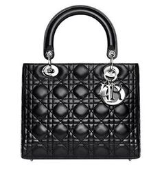 i am completely smitten with this black lady dior bag.
