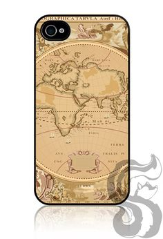 Apple iPhone 4 4S Slim Hard Case Cover    Old Map by skunkwraps, $16.95