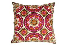 Forever 22x22 Cotton Pillow, Fuchsia on OneKingsLane.com