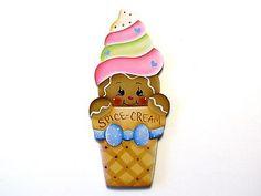 HP Gingerbread in Ice Cream Cone Fridge Magnet