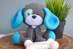 Забавная собачка амигуруми. Описание вязания