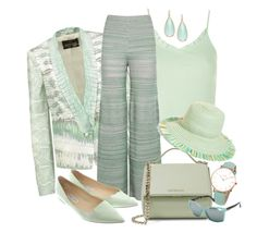 """MINT  -  outfitonly"" by fantasiegirl ❤ liked on Polyvore featuring Roberto Cavalli, Panacea, Topshop, M Missoni, Givenchy, Jimmy Choo, Eric Javits, CLUSE and VonZipper"