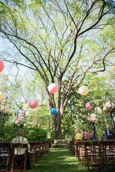 Garden wedding ceremony with balloons by Southern Event Planners, Memphis Weddings Ceremony Backdrop, Ceremony Decorations, Wedding Ceremony, Event Planners, Arches, Memphis, Garden Wedding, Backdrops, Balloons