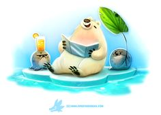 Daily Paint 1288. Solar Bear by Cryptid-Creations.deviantart.com on @DeviantArt