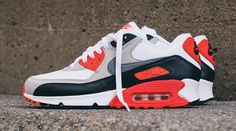 new concept 90c4c 028a9 Air Max 90 Infrared. Designed by Tinker Hatfield. Notice the sole.