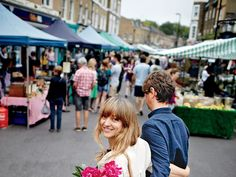 Ptak and her husband in Broadway Market.