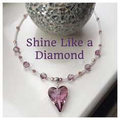 Swarovski heart necklace commissioned by a friend for another friend , don't hesitate to place ur own order xx