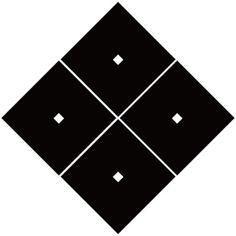六角義賢の家紋「隅立て四つ目結」
