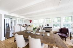 """""""Real Housewives of New York City"""" star LuAnn de Lesseps' kitchen at her home in Sag Harbor. (Credit: Gordon M. Grant)"""