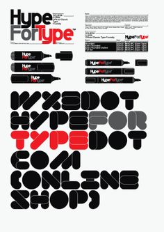 HypeForType logo and branding case study, 2010. by Official Classic , via Behance