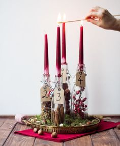 Nature advent wreath You are in the right place about easter Wreath Here we offer you the most beautiful pictures about the laurel Wreath you are looking for. When you examine the Nature advent wreath Christmas Candle Decorations, Advent Candles, Christmas Themes, Christmas Wreaths, Holiday Centerpieces, Diy Candles, Christmas Ornaments, All Things Christmas, Winter Christmas
