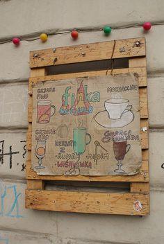 Menu des boissons chaudes du Klub Finka à Cracovie